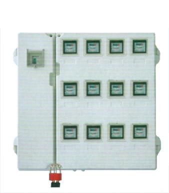 玻璃钢电表箱LA-JD-BZY12,厂家直销电网专用左右结构12表位玻璃钢SMC电表箱,电力玻璃钢SMC电能表计量箱