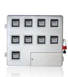 厂家供应直销玻璃钢电表箱LA-JD-AX小9,农网改造9表位玻璃钢SMC电表箱,电力专用玻璃钢SMC电能表计量箱
