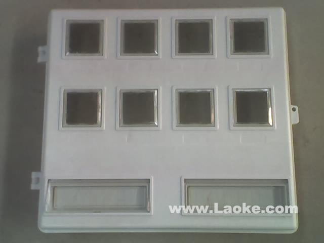生产玻璃钢电表箱LA-JD-AS8,农村改造电力玻璃钢电表箱,电力局专用玻璃钢电能表计量箱