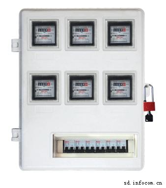 厂家供应玻璃钢电表箱LA-JD-AXT6,电网专用玻璃钢SMC电表箱,农网改造专用玻璃钢电能表计量箱