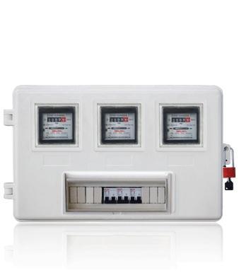 玻璃钢电表箱LA-JD-AXT3,厂家销售电力玻璃钢绝缘电表箱,电网玻璃钢电力计量箱