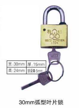 厂家供应30mm弧形叶片挂锁,塑钢防盗电力表箱锁,塑钢不生锈电力表箱挂锁